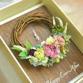 結婚祝い プリザーブドフラワー 時計