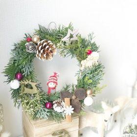 クリスマスリース リースレッスン 足立区 ララブーケ