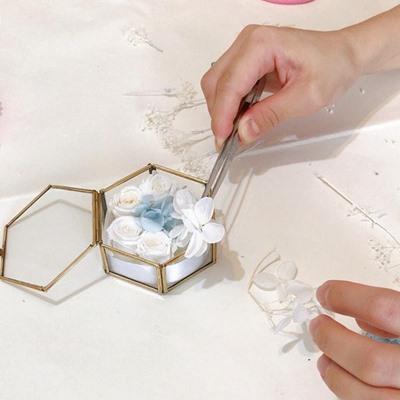 ウェディングレッスン リングピロー手作り ガラスリングピロー 東京