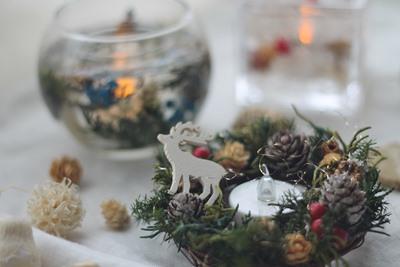 クリスマスレッスン フラワーアレンジメントレッスン 東京